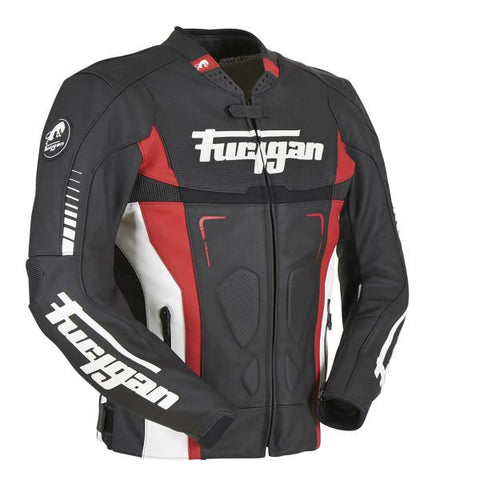 FURYGAN TRACK BLACK WHITE RED - Blouson Cuir