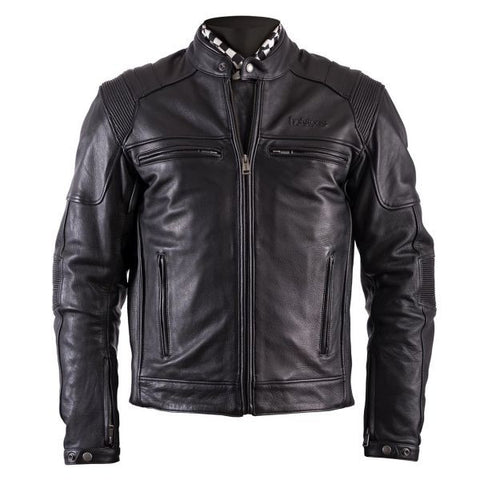 HELSTONS TRUST LEATHER PLAIN BLACK - Blouson Cuir