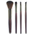1/4PCS PRO paintbrushes of Makeup Brushes Wooden handle make up brush blush Foundation hand to Makeup Tools cosmetic set