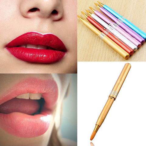 Women Portable Makeup Lip Brush Retractable Cosmetic Lip Brush Make Up Lipstick Gloss Beauty New Makeup Brushes M01569