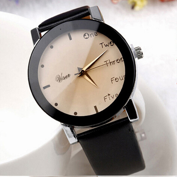 2016 Hour Leisure Clock Letters Number Print Watches Women Ladies Watch Quartz Wristwatches Relogio Feminino Saat New Year Gift