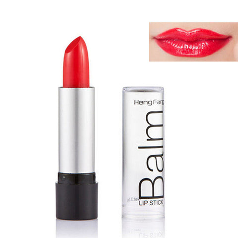 1Pcs Super Temperature-changed Jelly Fruit Flower Lipstick Lip Balm Red Nude Batom Matte Nutritious Moisturizer Lips Care Makeup