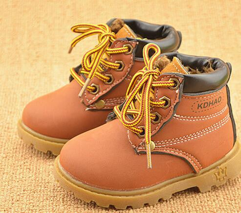 2016 new  children sneakers boots shoes kids fashion sneakers casual boys girls leather boots shoes children autumn boots boys