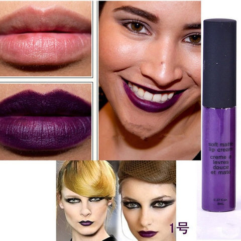 Liquid Matte Lipsticks Long Lasting Waterproof Matt Black Lipstick 12 Colors Velvet Selena Lipstick Matte Lip Makeup Lip Gloss