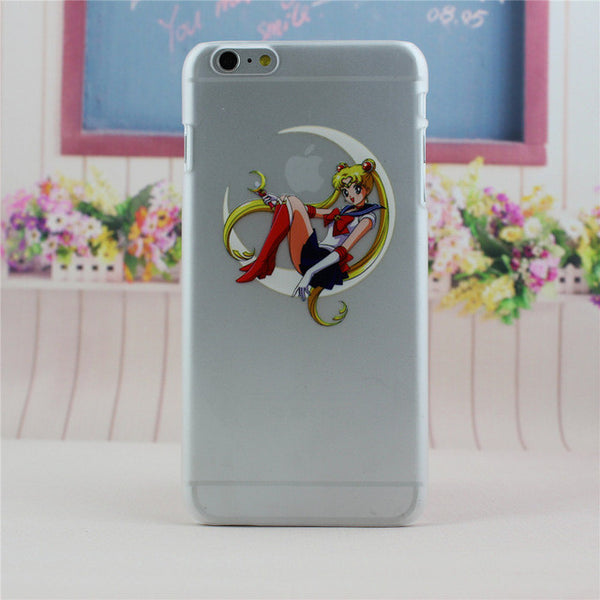 2016 New Cute Design Case Cover For Apple iPhone 4 4S 5 5S SE 5C 6 6S 7 Plus Princess Snow White Mermaid Eat LOGO Shell Coque