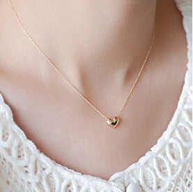 2016 hot fashion accessories fresh peach heart necklace chain necklace female free shipping x1