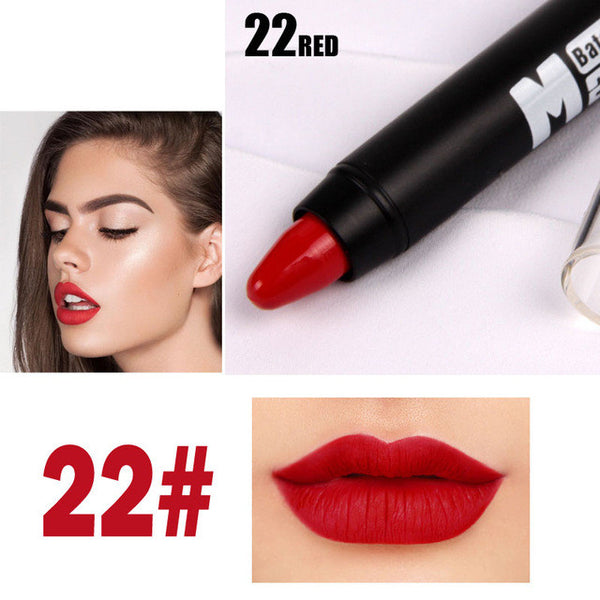 2016 Miss Rose Brand Makeup Sexy Matte Lip Kit Women Lipstick Long Lasting Waterproof Red Velvet Matte Nude Lipstick Pencil