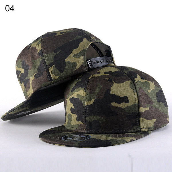 2016 Brand Camouflage Bone Snapback Ladies Gorras Hiphop Baseball Cap Summer Casual Como Casquette Flat Hat For Women Men