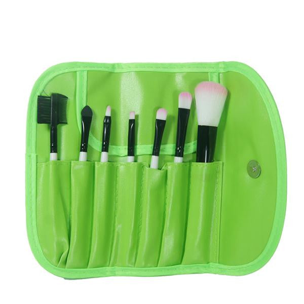 2016 Hot Professional 7 pcs Makeup Brush Set Tools Foundation Make-up Toiletry Kit Wool Brand Make Up Blush Brush Set Case Pink