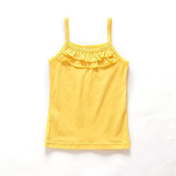2016 New Arrival Baby Girl Summer t-shirts for kids tops tees  Sleeveless t shirts for children vest