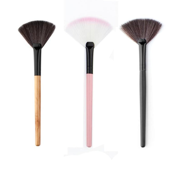 14.5*2.5*0.7 Good choice for women Makeup Fan Blush Face Powder Foundation Cosmetic Brush New and high quality 2017 Anne