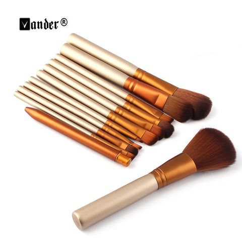 12 pcs Professional Makeup Brushes Tools Set Make up Brush Tools Kits For Beauty Blush Foundation Eye Shadow Lip Palette Blushes