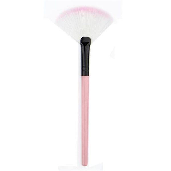 1PC Fan shape Makeup Fan Blush Face Powder Foundation Cosmetic Brush Levert DropshipM