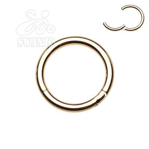 1PC 16G 100% Titanium Fake Nose Piercings Nose Rings Septum Hinged Segment Rings Nipple Lip Rings Ear Cartilage Earrings Jewelry