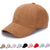 Plain Suede baseball caps with no embroidered casual dad hat strap back outdoor blank sport cap and hat for men and women