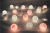 mixed 20pcs/set White-Pink-Gray cotton ball string lights