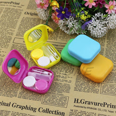 Bhbuy Mini Travel Plastic Contact Lens Box Holder Case Container + Tweezer Set