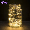 LED Starry String Lights Fairy Micro LEDs Copper Wire, Battery Decoration Warm Lamp Holiday Wedding Light for Christmas Glass