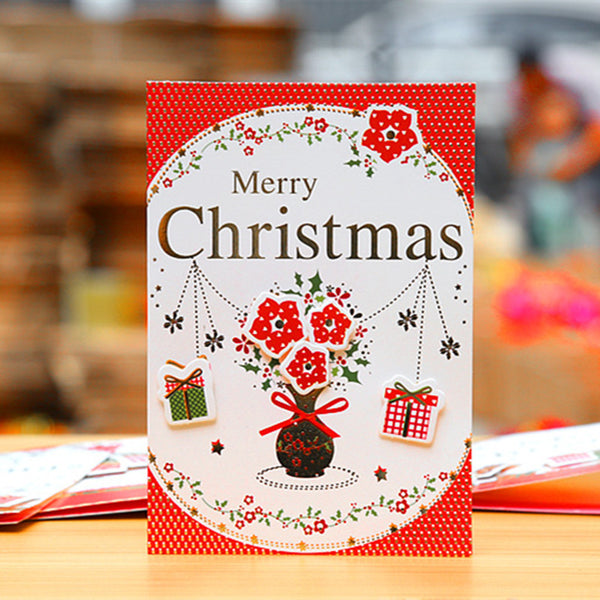 16pcs Christmas Cards Greeting Card