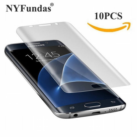 10PCS NYFundas Full 3D Coverage PET Film Curved Screen Protector for Samsung Galaxy S7 Edge S6 S8 Plus S8plus S5 Screenprotector