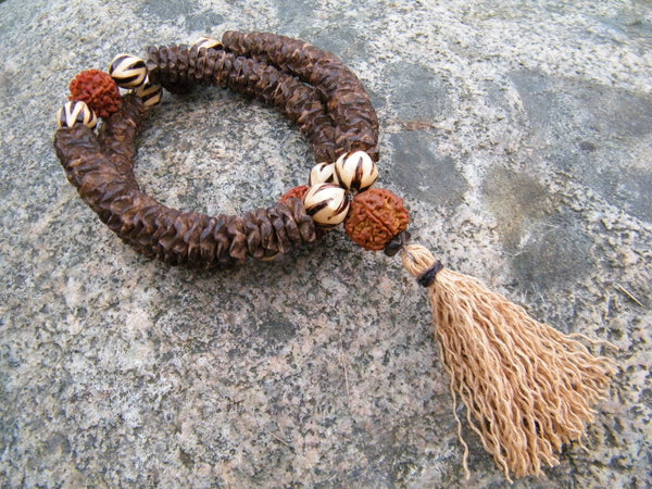Large Coco Flower Disc Mala