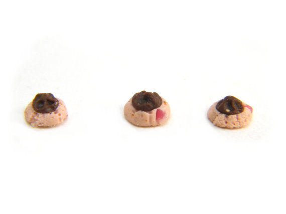 Miniature Chocolate Cherry Blossom Cookie