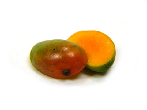 1:12 Scale Halved Kent Mangoes - Miniature Mango - Dollhouse Mangos