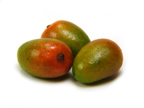 1:12 Scale Whole Ripe Kent Mangoes - Miniature Mango - Dollhouse Mangos