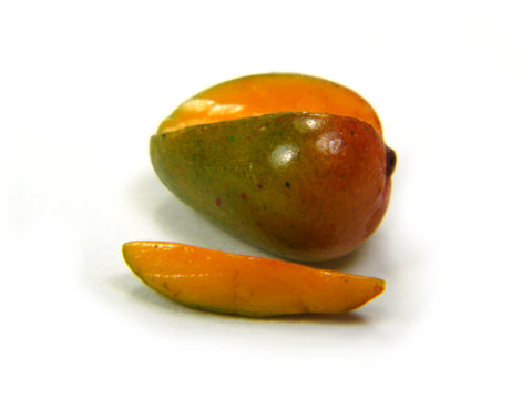 1:12 Scale Sliced Kent Mangoes - Miniature Mango - Dollhouse Mangos