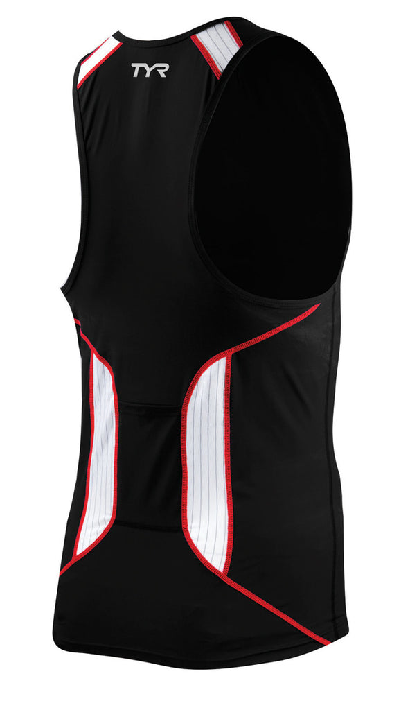 TYR Carbon Male Tank with Zipper