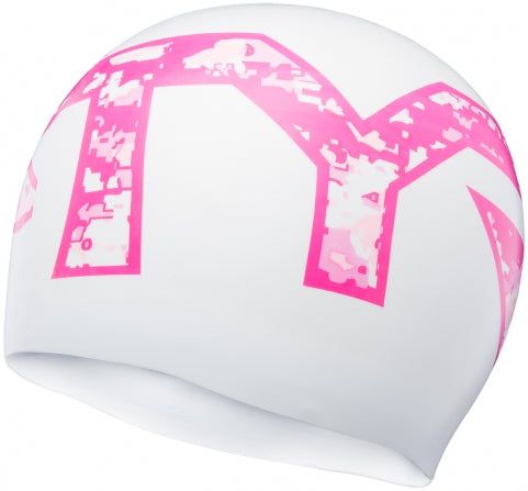 TYR Pink® Silicone Adult Swim Cap