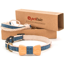 pettsie-blue-dog-collar-wood-bow-tie-friendship-bracelet-gift-box-s-size