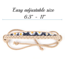Pettsie Matching Friendship Bracelets, 2 Pack Set, Easy Adjustable, 100% Cotton and Hemp