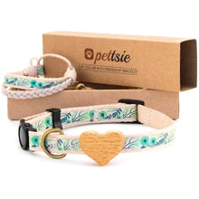 pettsie-green-cat-collar-heart-matching-friendship-bracelet-cotton-calming-chic