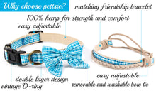 pettsie-hemp-dog-collar-cotton-bow-tie-removable-washable-matching-friendship-bracelet-features