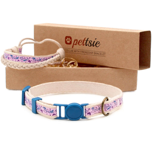 pettsie-purple-kitten-collar-safety-breakaway-buckle-friendship-bracelet-easy-adjustable