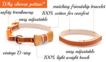 pettsie-orange-cat-collar-set-wood-bow-tie-features