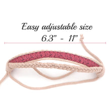 pettsie-matching-friendship-bracelet-cotton-hemp-pink-adjustable-size