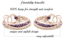 pettsie-matching-friendship-bracelet-cotton-hemp-purple-features