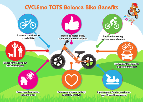 CYCLEme TOTS Balance Bike Benefits