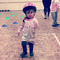 CYCLEme TOTS Strider Balance Bike Pink Breast Cancer Team Jersey