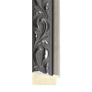 Ornate Antique Style Pewter Timber Frame