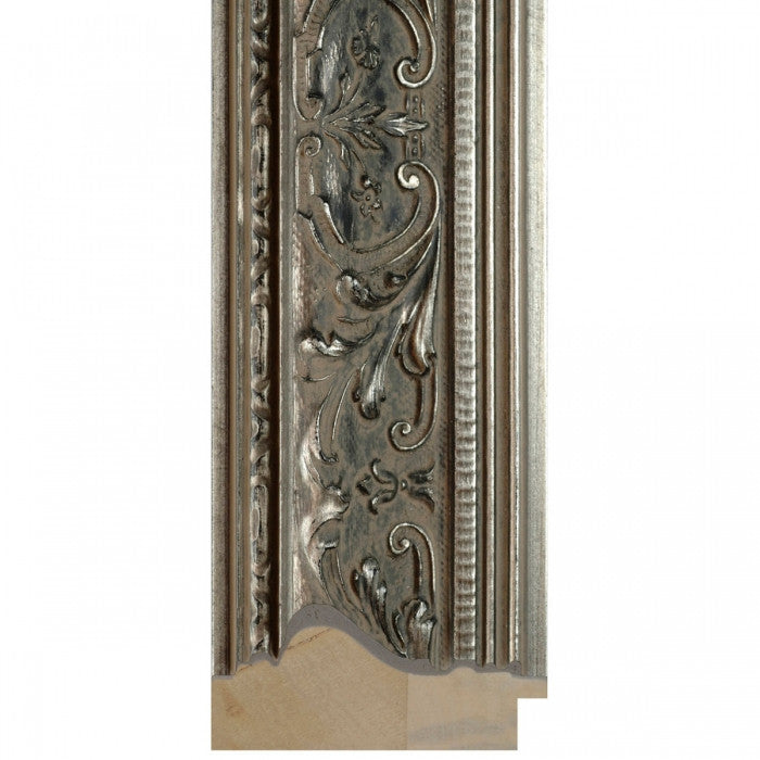Aged Antique Look Silver Wide Timber Frame