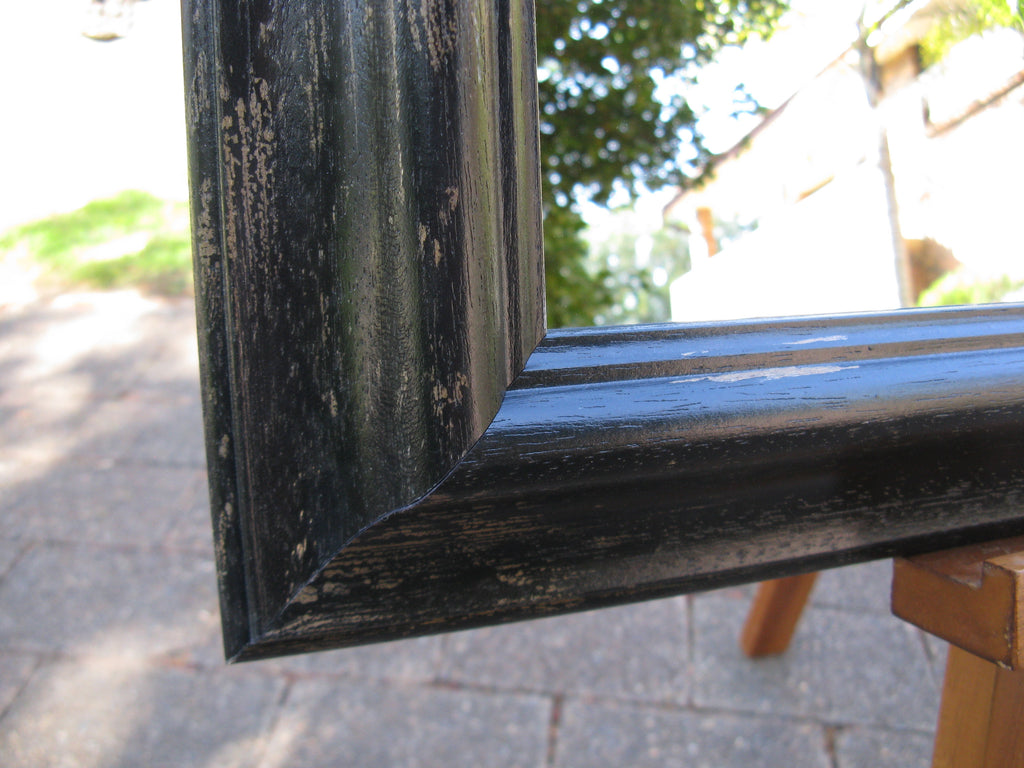 Provence Italian Made Aged Black Timber Frame