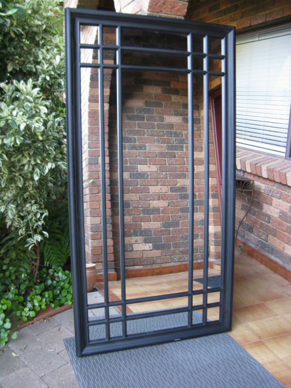 Sale Item Large Window Look Black Mirror 190x100cm