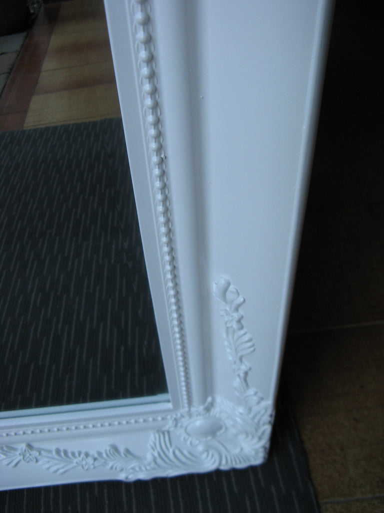 Felicity Ornate White Gloss Mirror