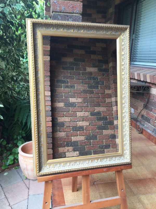 Antique Style Aged Gold Timber Framed Wall Mirror