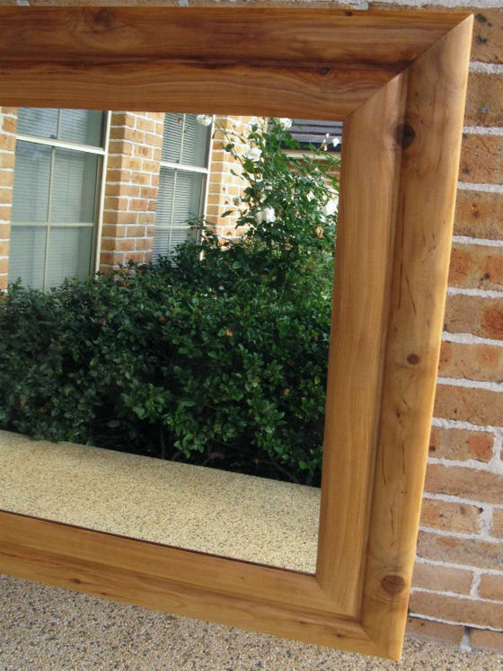 Aust Hardwood Cypress Pine Wide Timber Framed Wall Mirror