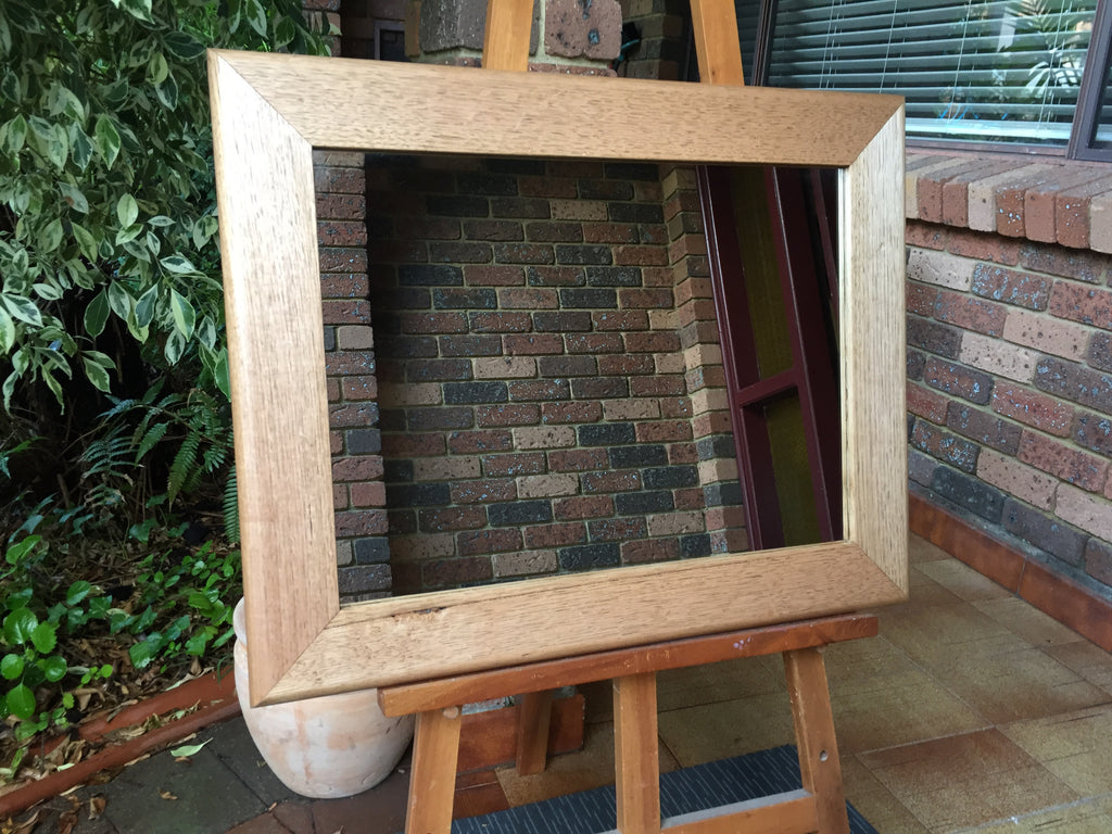 Solid Tasmanian Oak Timber with Bullnose Frame Wall Mirror