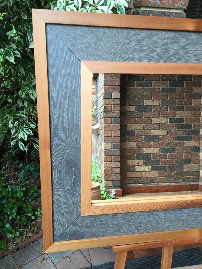 Cedar & Grey Oak Mirror